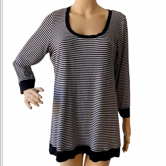 Torrid Ribbed Striped Banded Bottom Stretch Top